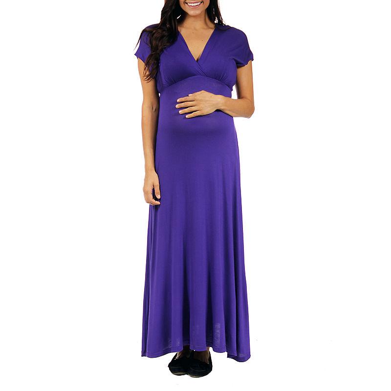24/7 Comfort Apparel Maxi Dress-Plus Maternity plus size,  plus size fashion plus size appare