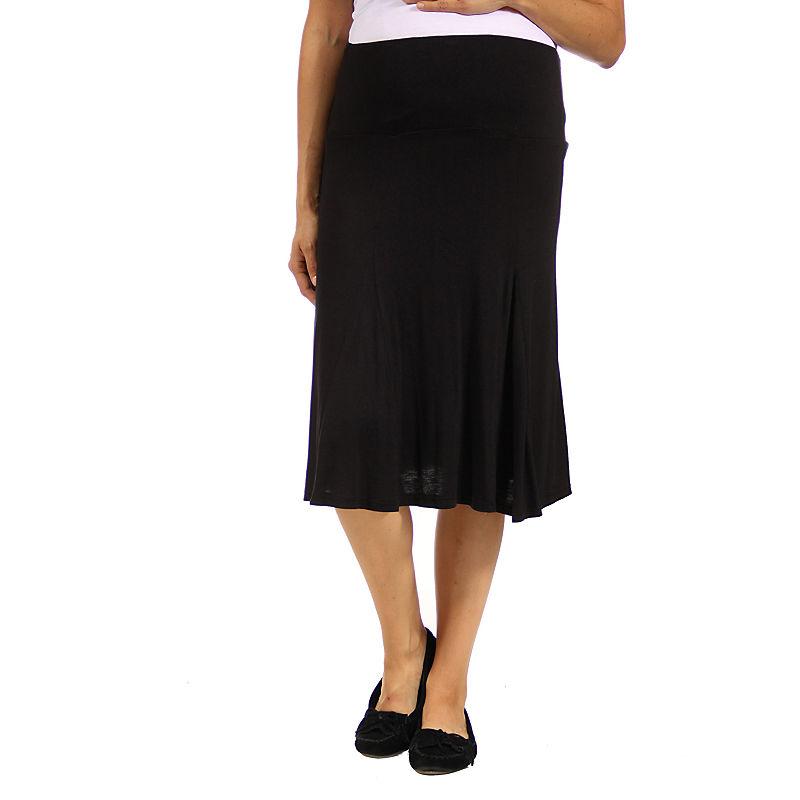 24/7 Comfort Apparel Full Skirt-Maternity plus size,  plus size fashion plus size appare