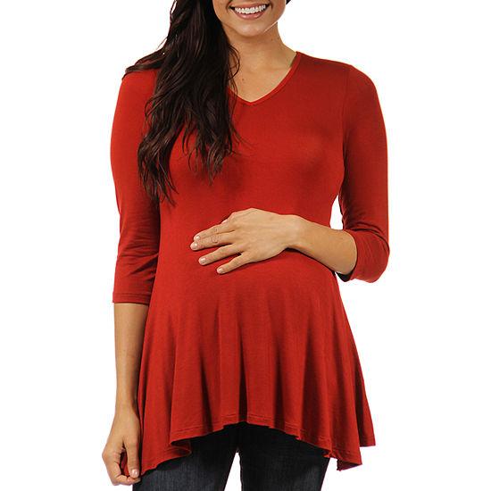 24/7 Comfort Apparel-Maternity Womens Knit Blouse