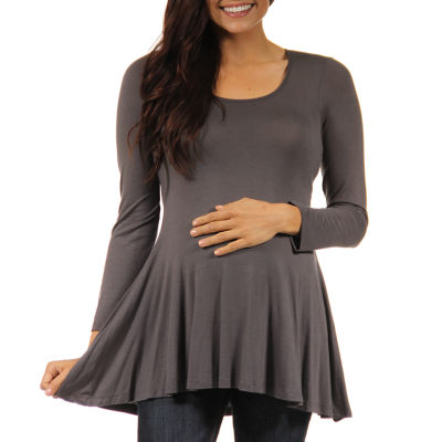 24/7 Comfort Apparel Knit Blouse-Plus Maternity