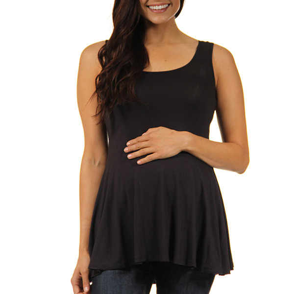 24/7 Comfort Apparel Knit Blouse-Maternity