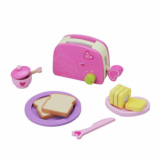 Classic Toy Wooden Toaster Playset