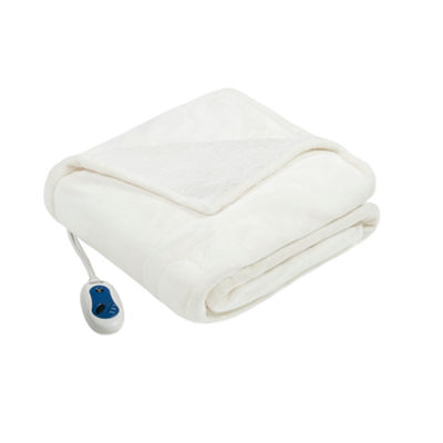 Beautyrest Oversized Microlight To Berber Heated Electric Throws