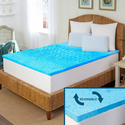 Arctic Sleep™ by Pure Rest™ 5 Zone Marbleized Gel Memory Foam Topper