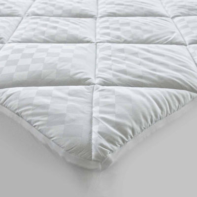 HOTEL™ Quilted Diamond Jacquard Cotton Mattress Pad