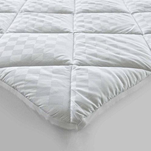 HOTEL™ Quilted Diamond Jacquard Cotton Mattress Pad