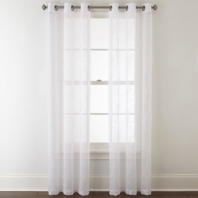 Home Expressions Riley 2-Pack Grommet-Top Sheer Curtain Panel