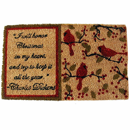 "Dickens Rectangular Doormat - 18""X30"""