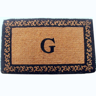 Imperial Border Monogram Doormat