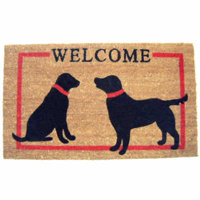 "Dog Welcome Rectangular Doormat - 18""X30"""