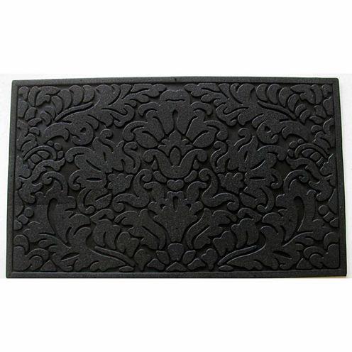 "Leaf Scroll Rectangular Doormat - 18""X30"""