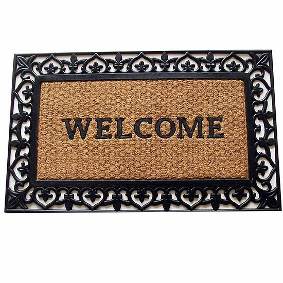 """Scroll Welcome Rectangular Doormat - 18""""X30"""""""