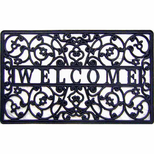 "Welcome Cutout Rectangular Doormat - 18""X30"""