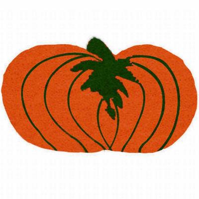 """Pumpkin Shape Doormat - 18""""X30"""""""