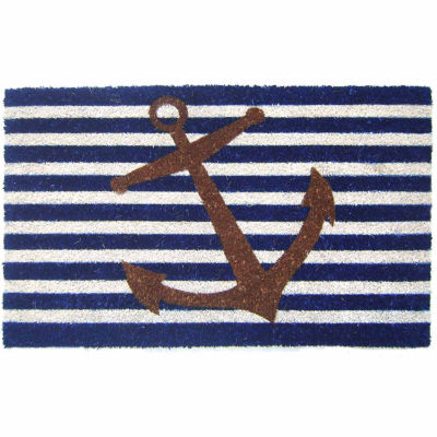 Nautical Anchor Rectangular Doormat