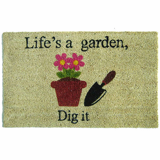 "Life's a Garden Rectangular Doormat - 18""X30"""