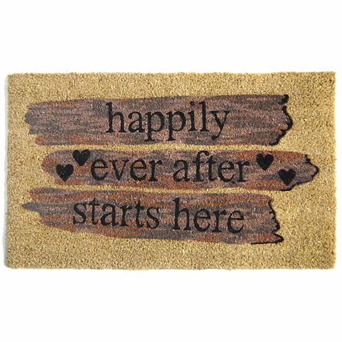 "Happily Ever Rectangular Doormat - 18""X30"""