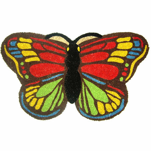 """Colorful Butterfly Rectangular Doormat - 18""""X30"""""""