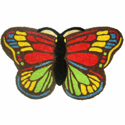 "Colorful Butterfly Rectangular Doormat - 18""X30"""