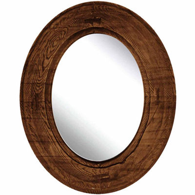 Natural Brown Wood Mirror