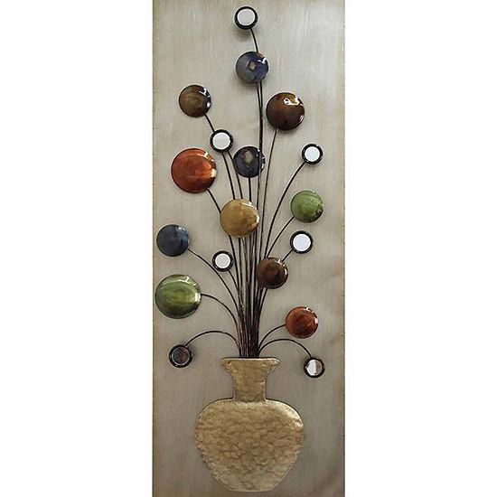 Flower Vase II Metal Wall Décor