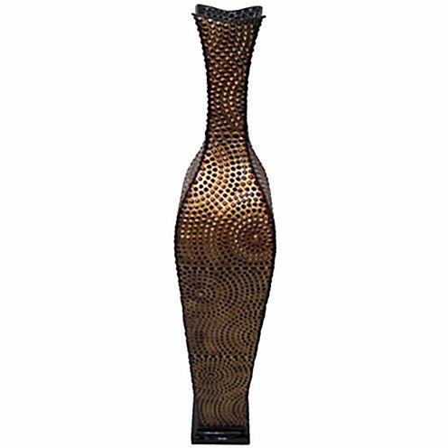 "34"" Bronze Trumpet Vase"