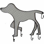 Dog With Hooks Wall Decor