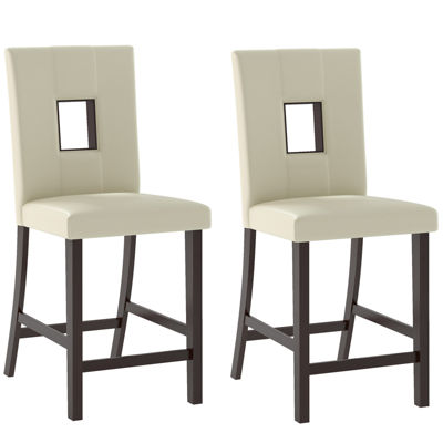 Bistro Counter Height Dining Chairs Set Of 2