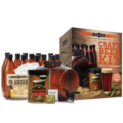 Mr. Beer Churchills Nut Brown Ale Complete Craft Beer Making Kit