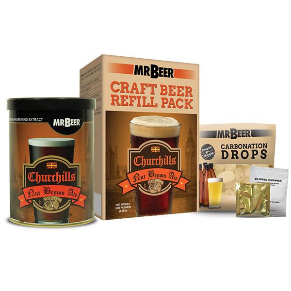 Mr. Beer Churchills Nut Brown Ale Craft Beer Making Refill Kit