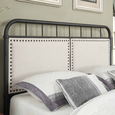 Home Meridian All In One Upholstered Metal Bed