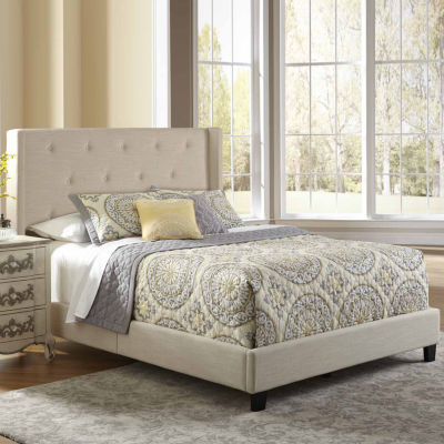 Home Meridian All In One Upholstered Shelter Bed