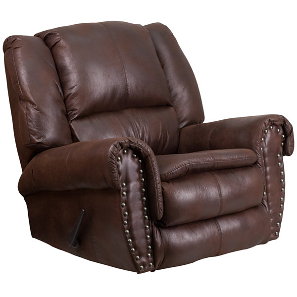 Fabric Pad-Arm Recliner
