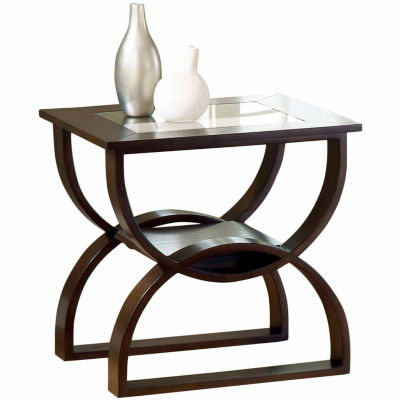 Steve Silver Co Glass Top End Table