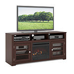 "West Lake Fireplace TV Bench, for up to 68"" TVs"