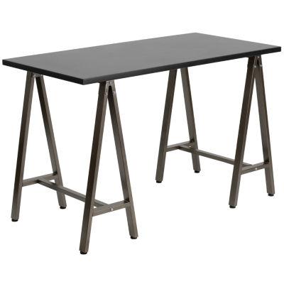 Computer Desk with Brown Metal Frame
