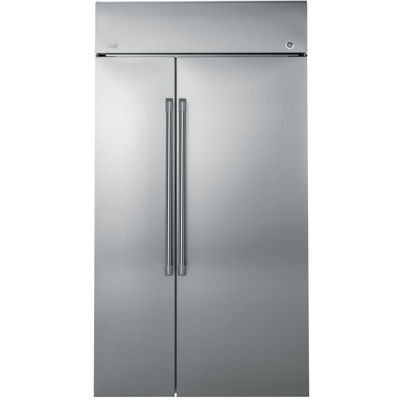 "GE Cafe Series 29.6 cu. ft. 48"" Built-In Side-by-Side Refrigerator"