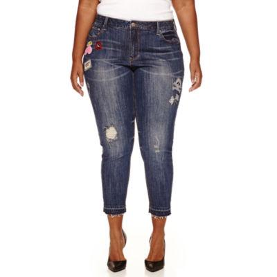 Love Indigo Patch Skinny Jeans