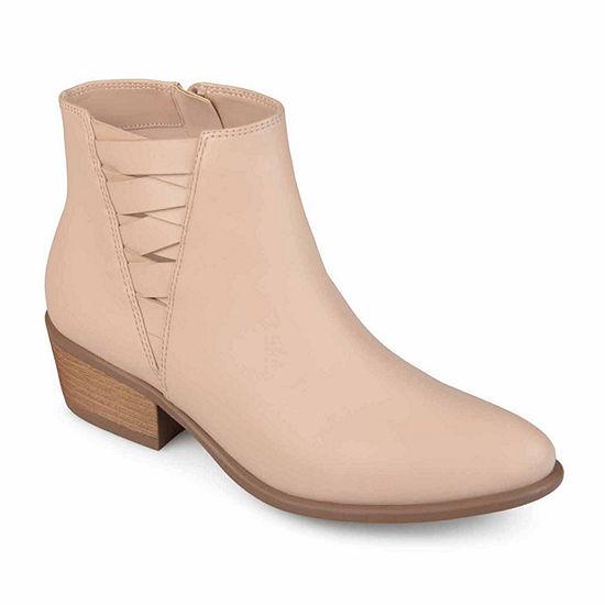 Journee Collection Womens Estell Booties Block Heel