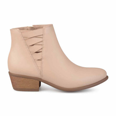 Journee Collection Womens Estell Bootie Block Heel Zip
