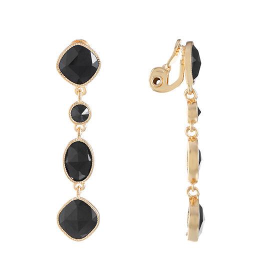 Monet Jewelry 1 Pair Black Clip On Earrings
