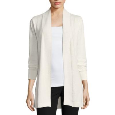 Worthington Long Sleeve Essential Cardigan-Talls