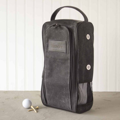 Cathy's Concepts Personalized Wax Canvas Golf Shoe Bag