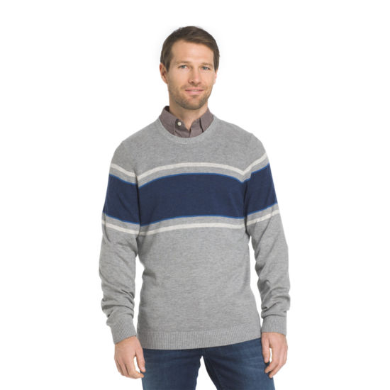 IZOD Striped Crew Sweater Crew Neck Long Sleeve Pullover Sweater