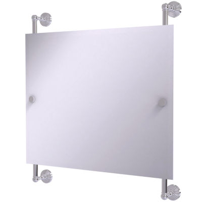 Allied Brass Waverly Place Landscape Rectangular Frameless Rail Mounted Mirror