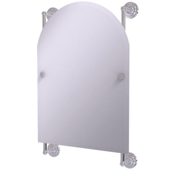 Allied Brass Prestige Skyline Collection Frameless Arched Top Tilt Mirror with Beveled Edge