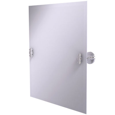 Allied Brass South Beach Collection 21 in. x 26 in. Frameless Rectangular Single Tilt Mirror with Beveled Edge