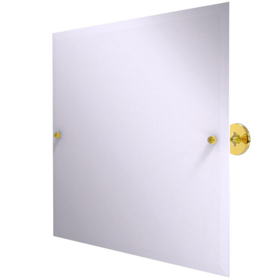 Allied Brass Shadwell Collection Frameless Landscape Rectangular Tilt Mirror with Beveled Edge