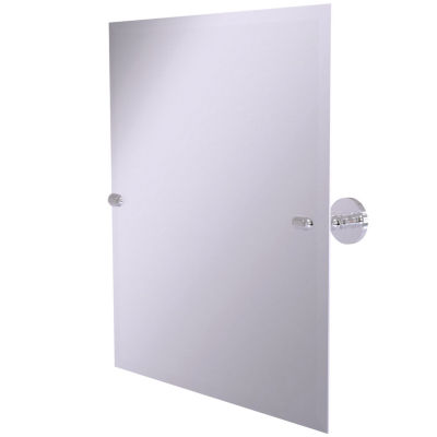 ALLIED BRASS 21 IN. X 26 IN. FRAMELESS RECTANGULAR SINGLE TILT MIRROR WITH BEVELED EDGE
