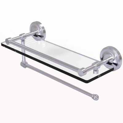 Allied Brass Prestige Regal Collection Paper TowelHolder With 16 IN Gallery Glass Shelf